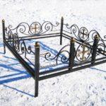Ограда на могилу 6