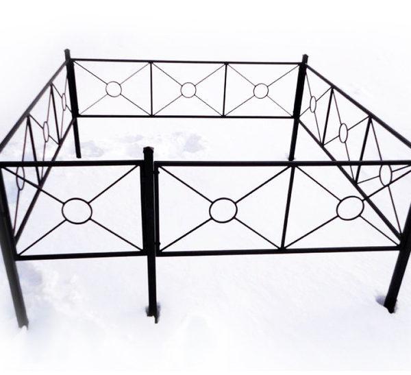 Ограда металлическая Тип 15