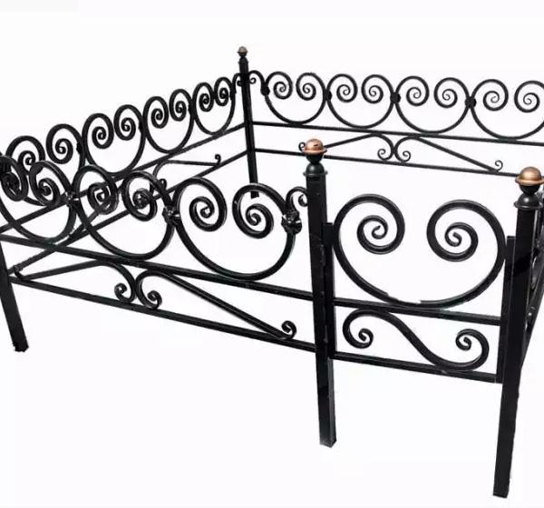 Ограда металлическая Тип 9